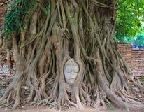 Sandstone Buddha. At Ayutthaya Thailand Stock Photos