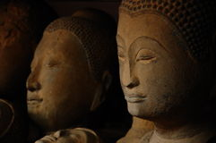 Sandstone Buddha Head in Thailand.  royalty free stock photography