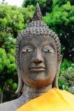 Sandstone buddha image Stock Photo