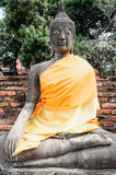 Sandstone buddha Royalty Free Stock Image