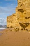 Sandstone at Burton Bradstock beach Dorset Stock Image