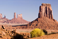 Sandstone buttes. View of sandstone formation in Monument Valley Royalty Free Stock Photography