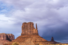 Sandstone buttes in a region of the Colorado Plateau in AZ Royalty Free Stock Photo