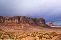 Sandstone buttes in a region of the Colorado Plateau in AZ. US Royalty Free Stock Image