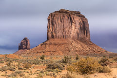 Sandstone buttes in a region of the Colorado Plateau in AZ. US Royalty Free Stock Photo