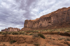 Sandstone buttes in a region of the Colorado Plateau in AZ. US Royalty Free Stock Photos