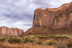 Sandstone buttes in a region of the Colorado Plateau in AZ Royalty Free Stock Images
