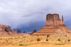 Sandstone buttes in a region of the Colorado Plateau in AZ Stock Images