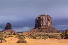 Sandstone buttes in a region of the Colorado Plateau in AZ Stock Photos