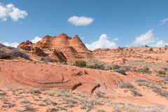 Sandstone buttes. Vermillion Cliff, Arizona, USA stock images