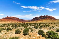 Desert Canyon in Utah. A sandstone canyon in the middle of a desert in the state of Utah, USA stock photo