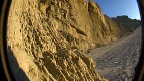 Sandstone Canyon Wash 2 Borrego California.  stock video
