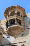 Sandstone carved balcony Stock Photography