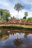 Sandstone carving at  banteay srei,Siem Reap, Stock Photos