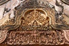 Sandstone carving at  banteay srei,Siem Reap Stock Image