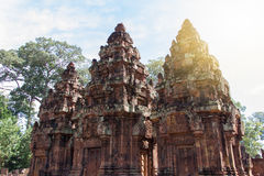 Sandstone carving at  banteay srei,Siem Reap, Stock Photography