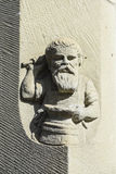 Sandstone carving blacksmith Royalty Free Stock Images