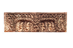 Sandstone carving in Prasat Banteay Srei Stock Image