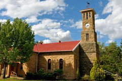 Sandstone church, Clarens, South Africa. Sandstone Dutch Reformed Church, Clarens South Africa royalty free stock photography