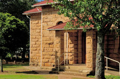 Sandstone church, Clarens, South Africa. Excellent example of sandstone building. Dutch Reformed Church, Clarens South Africa stock photos