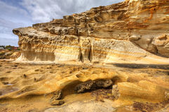 Sandstone cliff Royalty Free Stock Image