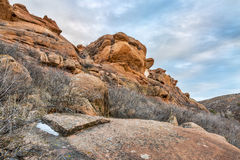 Sandstone cliff at Colorado foothills Royalty Free Stock Photos