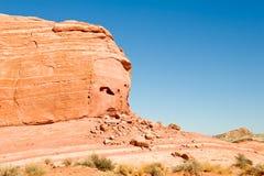 Sandstone cliff in desert Stock Image