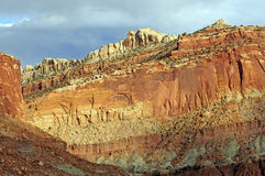 Sandstone Cliff in the Deset Royalty Free Stock Images