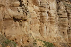 Sandstone cliff Stock Image