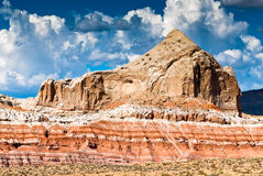 Sandstone cliff of grand staircase in utah Stock Photography