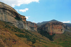 SANDSTONE CLIFF MOUNTAINS Stock Images