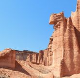 Sandstone cliff in Talampaya, Argentina. Royalty Free Stock Photo
