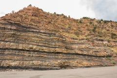 Sandstone Cliff - Utah. Sandstone cliff along the roadside Stock Photography