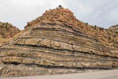 Sandstone Cliff - Utah. Sandstone cliff along the roadside Stock Photos