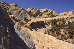 Sandstone cliff in Wyoming Royalty Free Stock Images