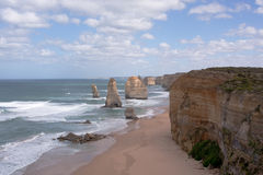 Sandstone cliffs by Apostles Royalty Free Stock Images