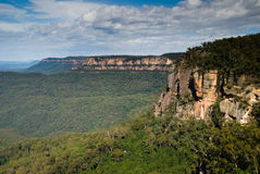 Sandstone cliffs of Blue Mountains Stock Images