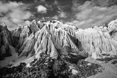 Sandstone cliffs forming strange shapes and textures Stock Images