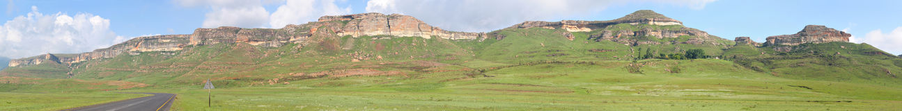 Sandstone cliffs in the Golden Gate Highlands National Park Stock Photography