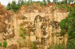 Sandstone cliffs at Kad Muang Phee,Thailand Royalty Free Stock Image