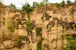 Sandstone cliffs at Kad Muang Phee,Thailand Stock Images