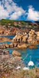 Sandstone cliffs near Albufeira Royalty Free Stock Photography