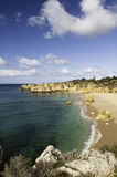 Seashore near Albufeira, Portugal Royalty Free Stock Photography