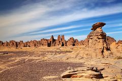 Sandstone cliffs in Sahara Desert Royalty Free Stock Photography