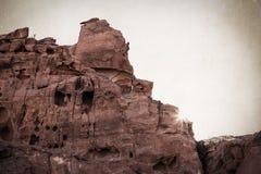 Sandstone cliffs Stock Images