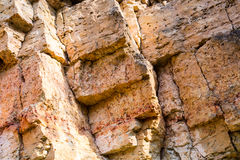 Sandstone cliffs with water source Stock Images