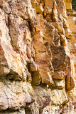 Sandstone cliffs with water source Royalty Free Stock Images