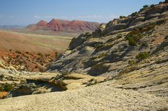 Sandstone cliffs in Wyoming. Stock Photos