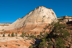 Sandstone cliffs in zion national park Stock Photo