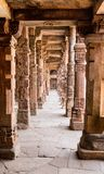 Sandstone columns at Qutab Minar, Delhi, India Stock Images